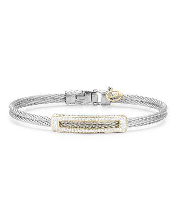ALOR - Diamond Grey Cable Bangle