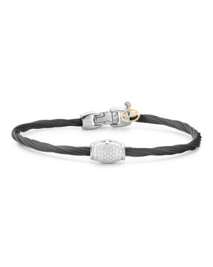 Alor Diamond Black Cable Bangle