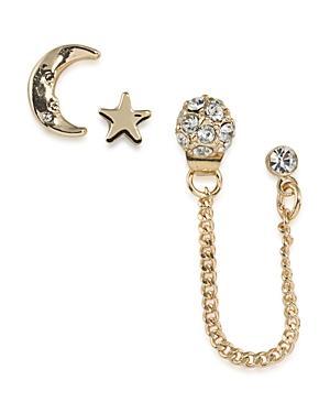 Abs by Allen Schwartz Star and Moon Stud Earrings, Set of 4