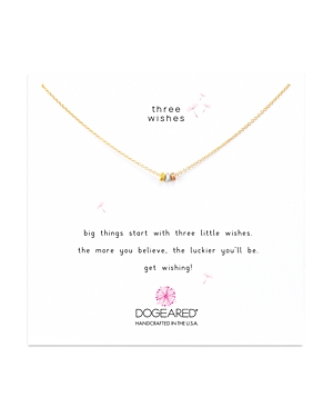 Dogeared Three Wishes Necklace, 16