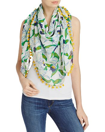 Tory Burch - Laguna Oversized Square Scarf