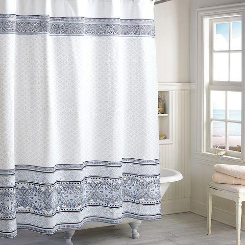 Peri Home - Medallion Border Shower Curtain