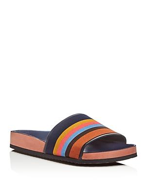 Paul Smith Todd Stripe Slide Sandals