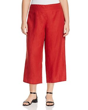 Eileen Fisher Plus Cropped Wide Leg Pants