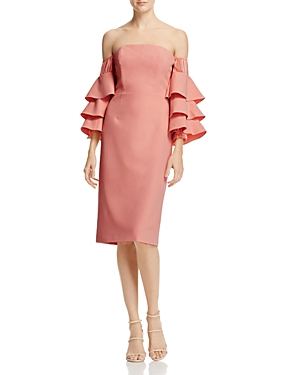 Talulah Off-the-Shoulder Ruffle-Sleeve Midi Dress