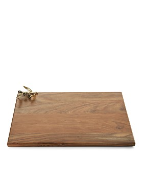 Michael Aram - Olive Branch Gold Oversized Wood Serving Board