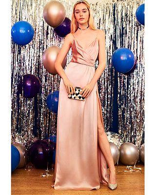 Jill Jill Stuart Crossover Satin Gown Bloomingdales