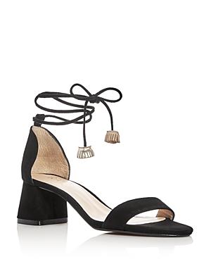 Raye Aubrey Lace Up Mid Heel Sandals
