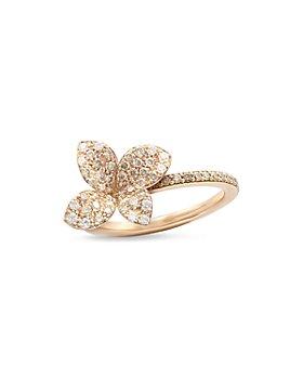 Pasquale Bruni - 18K Rose Gold Secret Garden Four Petal Flower Pavé Diamond Ring