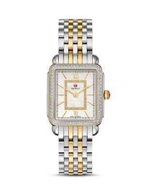 Deco II Two-Tone Diamond Dial Watch Head, 26mm x 27.5mm
