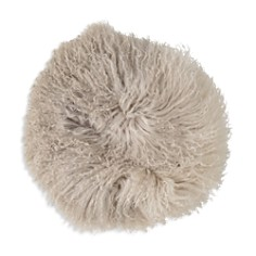 "Bloomingville Stone/Off White Tibetan Lamb Fur Pillow, 14"" - Bloomingdale's_0"