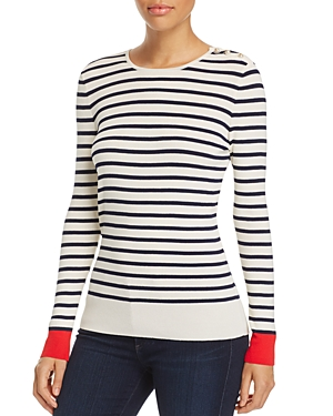 Tory Burch Birdie Stripe Sweater