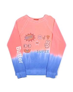 Butter Girls' Dip Dye Emoji Sweatshirt - Big Kid