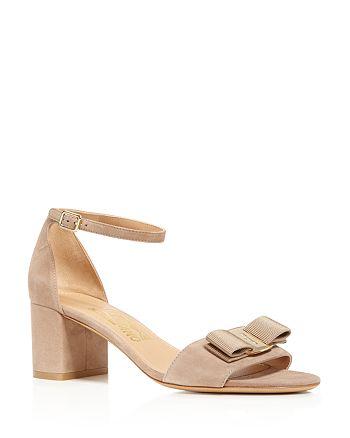Salvatore Ferragamo - Women's Ankle Strap Block Heel Sandals
