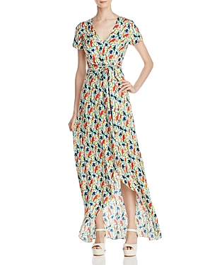 Alice + Olivia Adrianna Mock-Wrap Maxi Dress