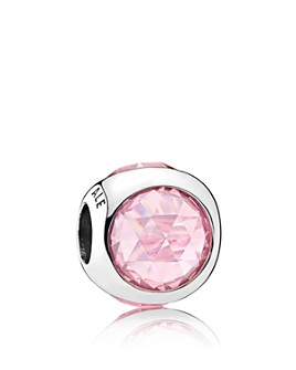 Pandora - Sterling Silver & Cubic Zirconia Radiant Droplet Pink Charm