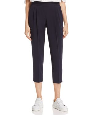 Dylan Gray Pleated Crepe Crop Pants