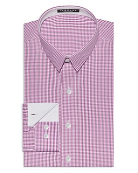 Vardama - Bethesda Small Check Stain Resistant Regular Fit Dress Shirt