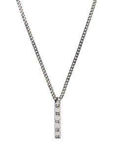 "Gucci Sterling Silver Gucci Ghost Pendant Necklace, 15.7"" - Bloomingdale's_0"