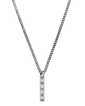 """Gucci - Sterling Silver Gucci Ghost Pendant Necklace, 19.7"""""""
