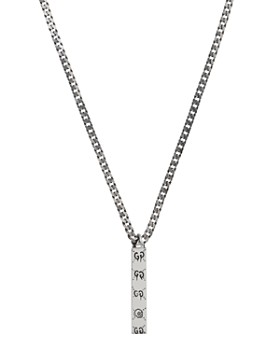 Gucci - Sterling Silver Gucci Ghost Pendant Necklace, 19.7""