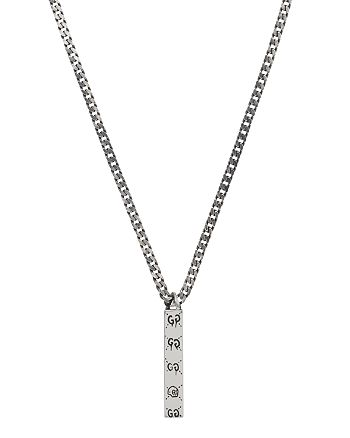 """Gucci - Sterling Silver  Ghost Pendant Necklace, 19.7"""""""