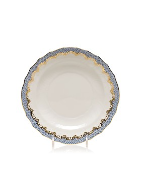 Herend - Fishscale Light Blue Salad Plate