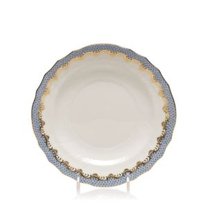 Herend Fishscale Light Blue Salad Plate