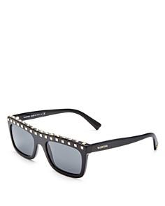 Valentino - Women's Embellished Rectangle Sunglasses, 51mm