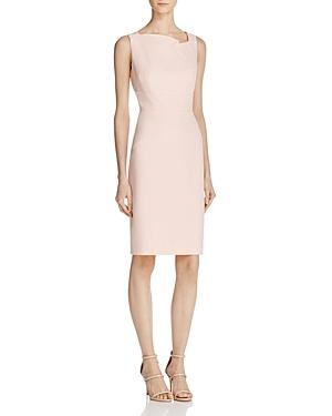 Adrianna Papell Sleeveless Asymmetric Neck Cocktail Dress