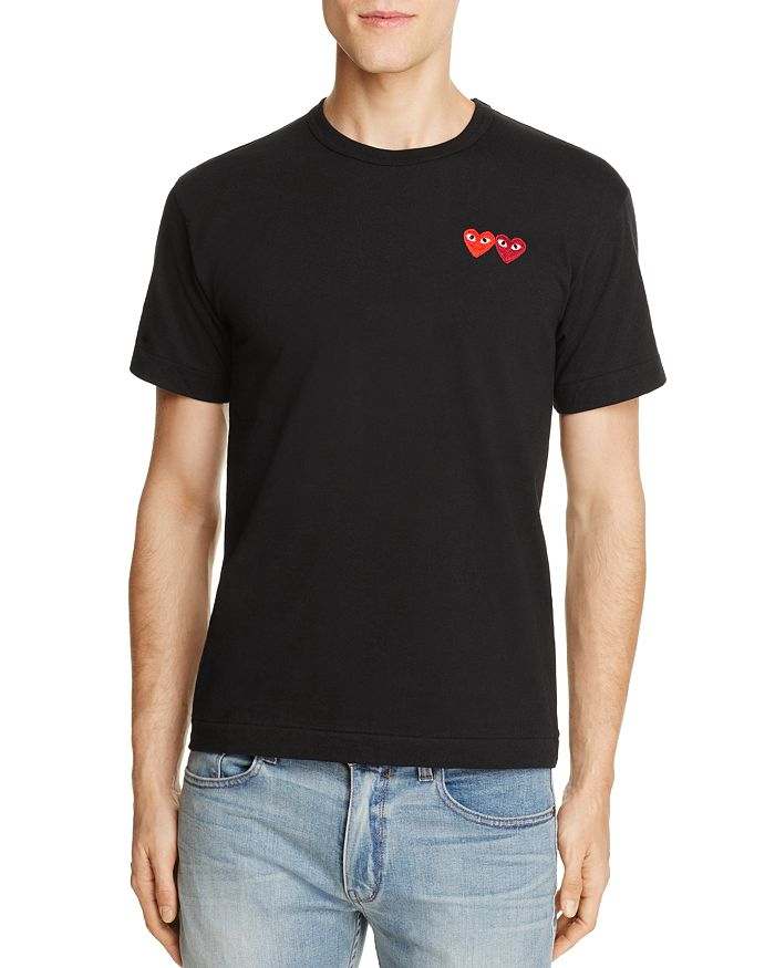 ff2fde1bb80b Comme Des Garcons PLAY - Double-Heart Tee