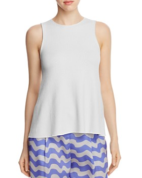 Armani Collezioni - Ribbed Knit Sleeveless Top