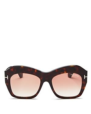 Tom Ford Emmanuelle Oversized Square Sunglasses, 53mm
