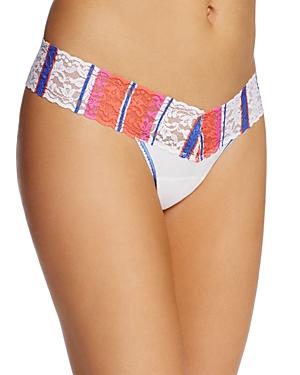 Hanky Panky Stripe Trim Low-Rise Thong