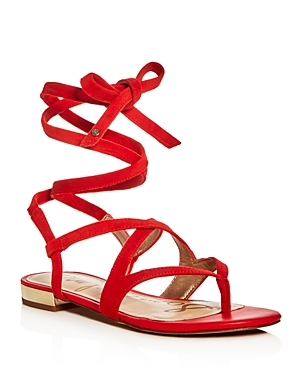 Sam Edelman Davina Suede Ankle Wrap Sandals