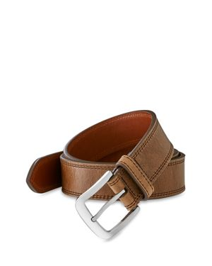 Shinola Double Stitch Belt