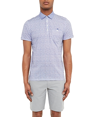 Ted Baker Woven Textured Regular Fit Polo