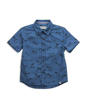 Sovereign Code Boys La Harpe Dinosaur Print ButtonDown Shirt  Little Kid