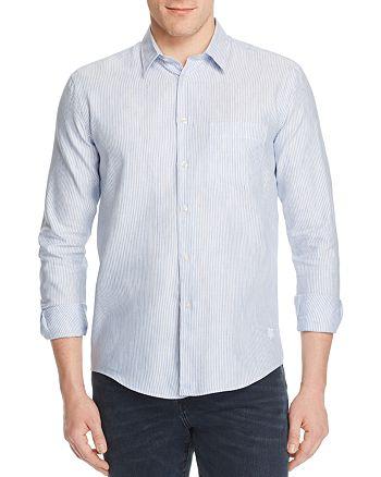 Vilebrequin - Stripe Linen Regular Fit Button-Down Shirt