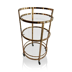 The Marilyn bar cart brings a stunning pop of vintage style to your next soiree.