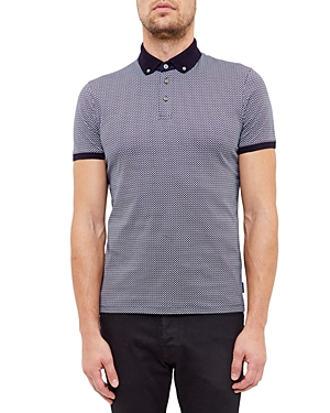 Ted Baker Geo Print Regular Fit Polo