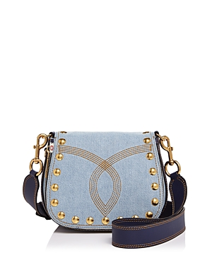 Marc Jacobs Nomad Small Denim Saddle Bag