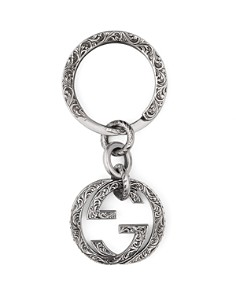 Gucci Sterling Silver Interlocking G Key Fob - Bloomingdale's_0
