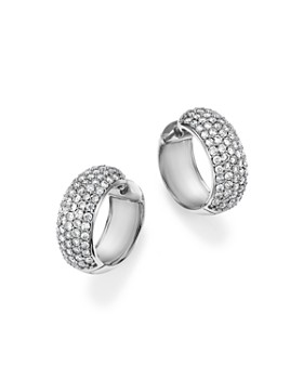 Bloomingdale's - Diamond Huggie Hoop Earrings in 14K White Gold, 1.50 ct. t.w. - 100% Exclusive