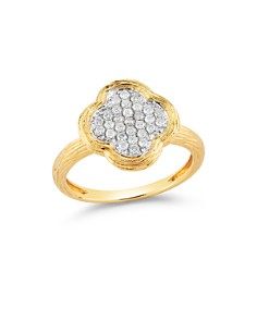 Diamond Clover Ring in Textured 14K Yellow Gold, .20 ct. t.w. - Bloomingdale's_0