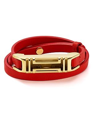 Tory Burch Fitbit Leather Wrap Bracelet