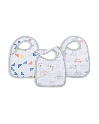 Aden and Anais - Infant Unisex Leader of the Pack Bibs, 3 Pack