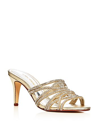 Caparros - Women's Impulse Metallic Embellished High-Heel Slide Sandals