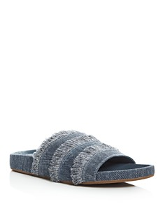 Joie - Women's Jaden Denim Pool Slide Sandals