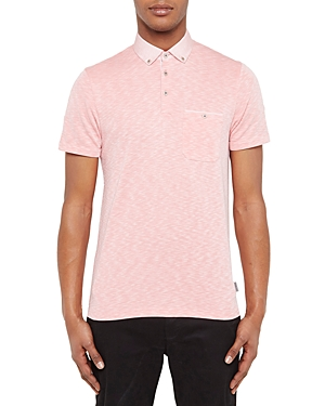 Ted Baker Woven Collar Regular Fit Polo